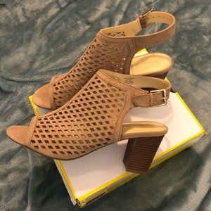 Open Toe Slingback Heeled Sandal 10W